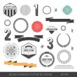 Hipster style infographics elements set for retro design. With r — 图库矢量图片 #65238729