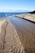 Estuary of little river in Baltic sea. — Stock Photo