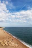 Mediterranean sea coast at Callelle city, Catalonia, Spain. — Stock Photo