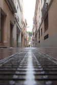 Street of Calella city, Spain. — Stock Photo