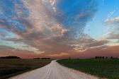 Dróg wiejskich. — Zdjęcie stockowe