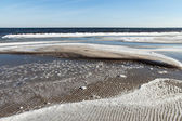 Ice at Baltic sea coast. — 图库照片