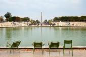 Bassin in garden of the tuileries in Paris, France. — ストック写真