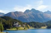 St. Moritz lake , Switzerland. — Stock Photo