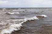 Stormachtige baltische zee. — Stockfoto