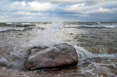 Stormy Baltic sea. — Stock Photo