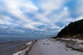Baltic coast in winter. — Stock Photo