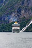 Ship in fjord, Norway. — Stock Photo