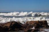 Atlantic waves at Portugal coast. — Stock Photo