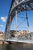 Construction of Dom Luis bridge in Porto, Portugal. — Stock Photo