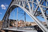 Dom Luis bridge in Porto, Portugal. — Stock Photo