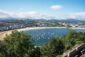 San Sebastian Donostia at Biscay bay coast, Spain. — Stock Photo