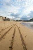 Zurriola beach in San Sebastian, Spain. — Stock Photo