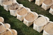Wooden baskets. — Stock Photo