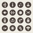 Space icon set — Stock Vector #61684083