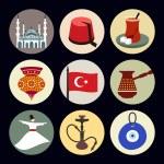 Turkey travel icons — Stock Vector #61684221