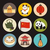 China icons — Stock Vector