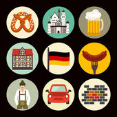 Germany icons — Stock Vector