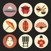 Japan icons — Stock Vector