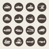 Military technology icon set — Stock Vector