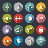 Space icon set — Stock Vector