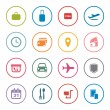 Airlines online services icon set — Stock Vector #61878769