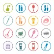 Beauty and makeup icon set — Stock Vector #61878889