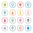 Light bulbs icon set — Stock Vector #61879051
