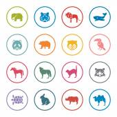 Animals icon set — Stock Vector