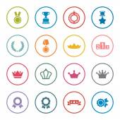 Awards icons set — Stock Vector