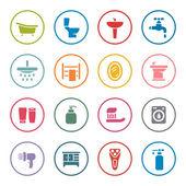 Bathroom icon set — Stock Vector