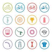 Bike icon set — Stock Vector