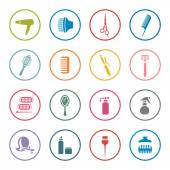 Hairdressing icon set — Stock Vector