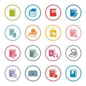 Books icon set — Stock Vector