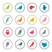 Birds icon set — Stockvektor