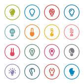 Light bulbs icon set — Stock Vector