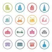 Architecture icon set — Stock Vector