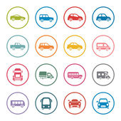 Cars icon set — Stock Vector
