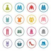 Clothes icon set — Stock Vector