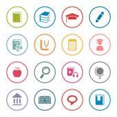 Education icon set — Stock Vector
