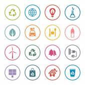 Eco ikonuppsättning — Stockvektor