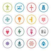 Energy icon set — Stock Vector