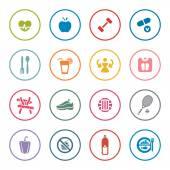 Fitness icon set — Stock Vector