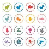 Farming icon set — Stock Vector
