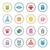 Gift icon set — Stock Vector