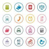 Hotel services icon set — Stock Vector