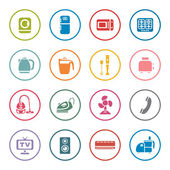 Household icon set — Stock Vector