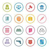 Law icon set — Stock Vector