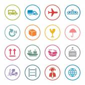 Logistic icon set — Stock Vector