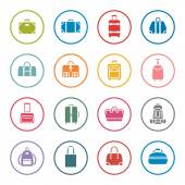 Bags icon set — Stock Vector